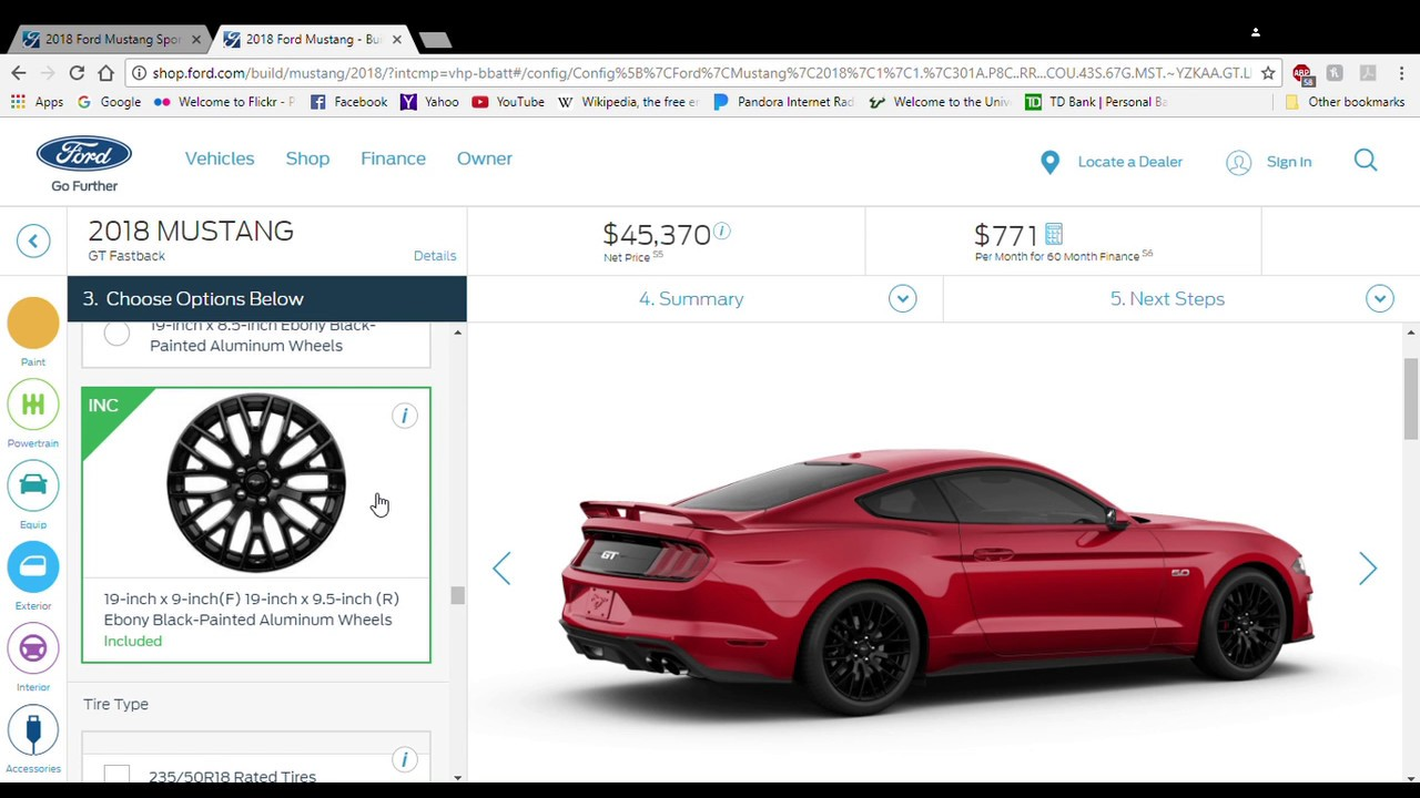 My Mustang Spec On The Build And Price Tool YouTube - 2018 mustang invoice price