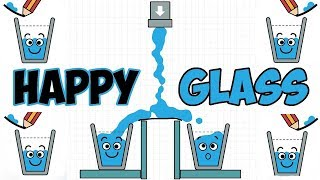 Happy Glass - Draw Creative Line And Connect The Water Walkthrough Level 31- 45 | Android Gameplay