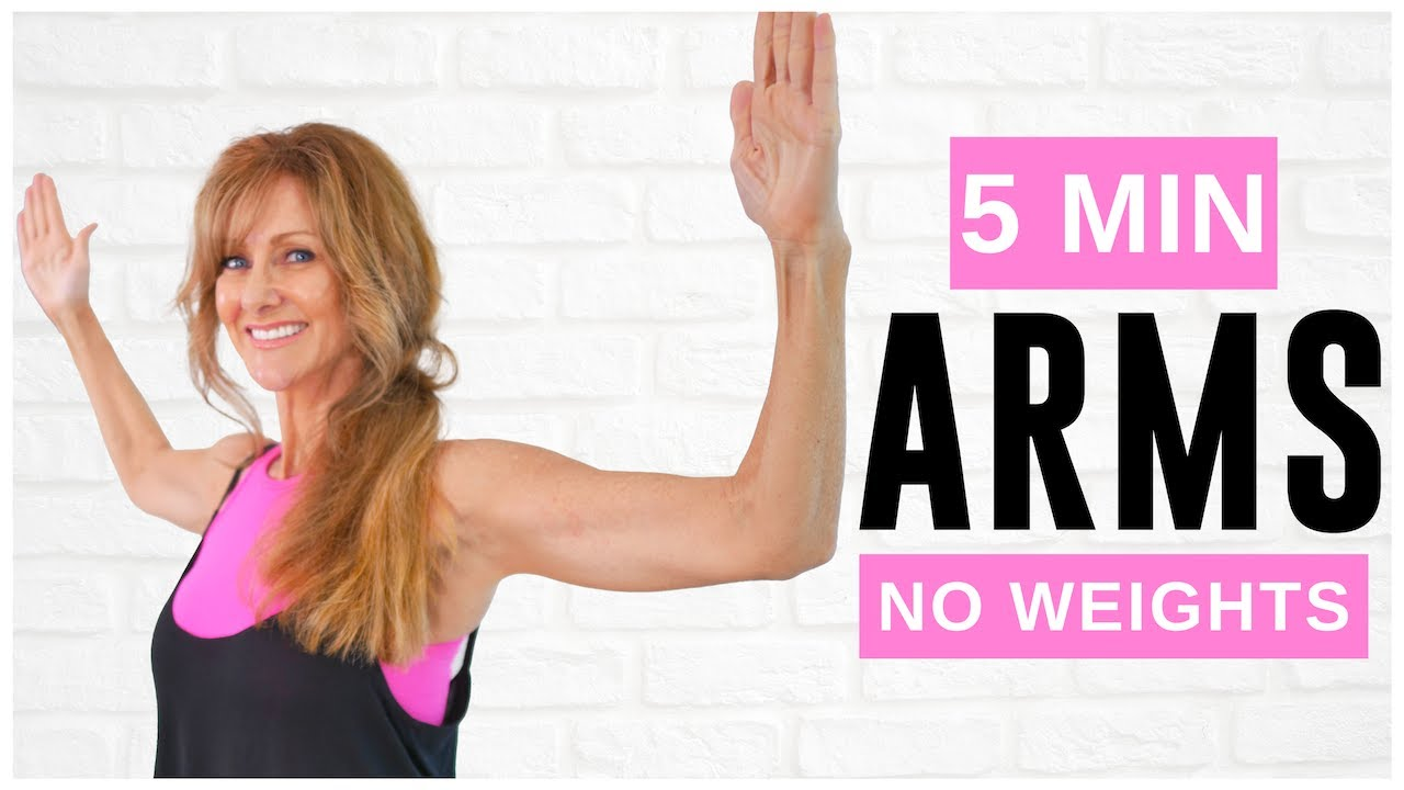 5 Minute Toned Arm workout For Women Over 50 | No equipment!