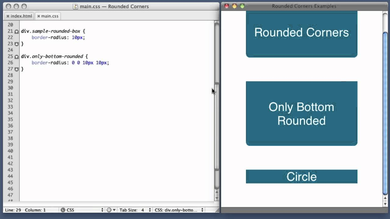 CSS Rounded Corners (border-radius property)