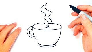 How To Draw A Cup Of Coffee   Coffee Cup Easy Draw Tutorial