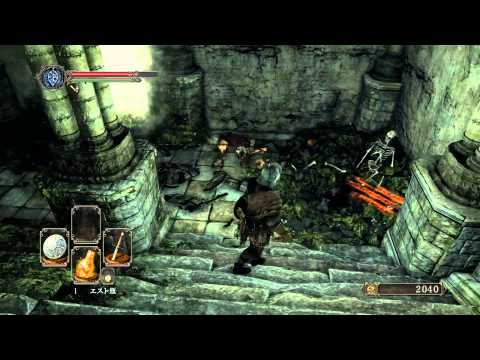 18 #XboxOne DARK SOULS II ダークソウル2 初見プレイ 朽ちた巨人の森 レニガッツの鍵で鍛冶屋のドアを開ける 主塔近辺探索