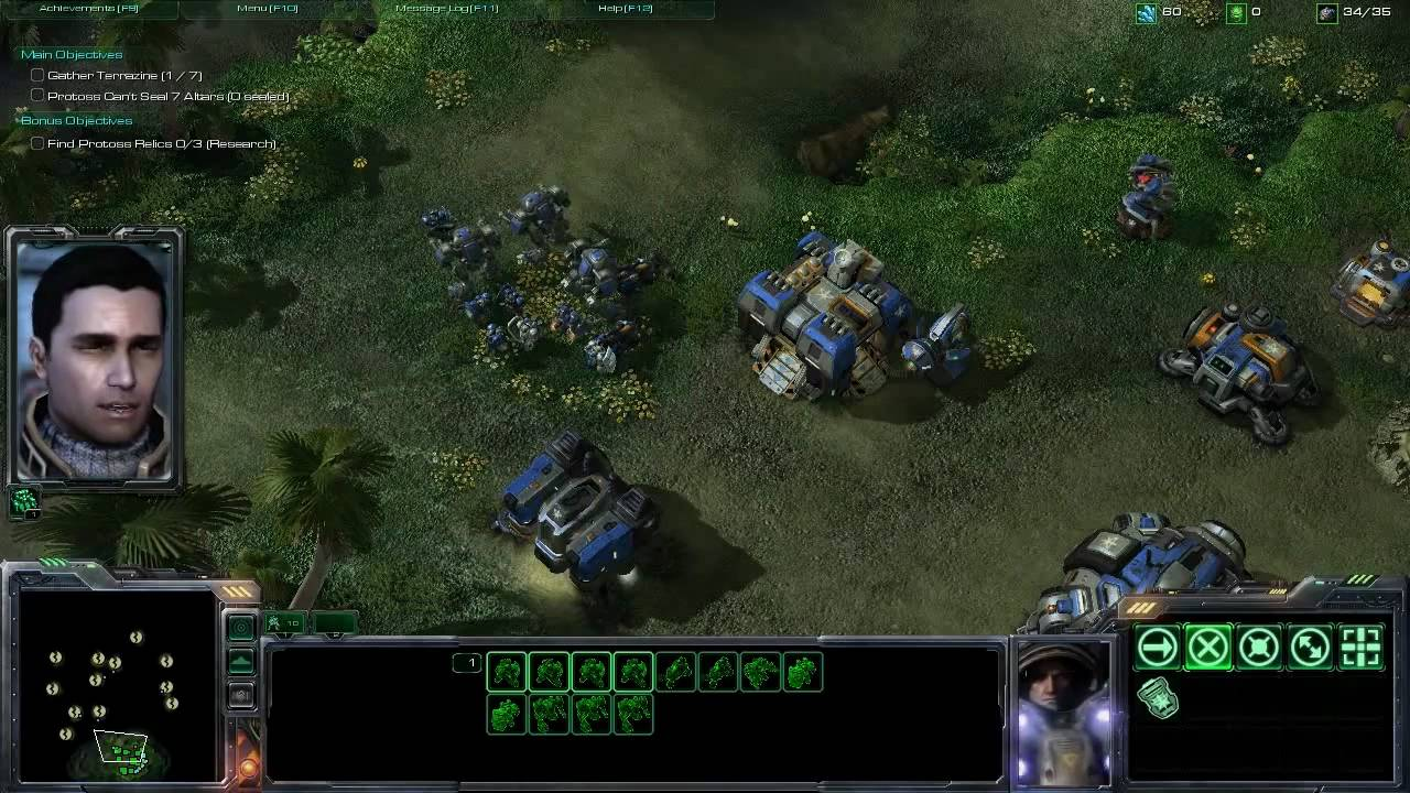StarCraft 2 Singleplayer Campaign Gameplay - YouTube