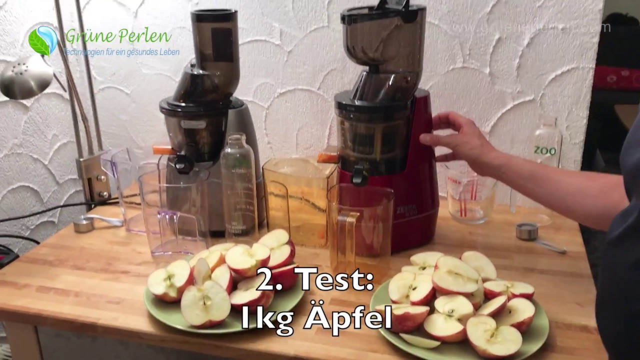 Whole Slow Juicer Test Zebra vs Kuvings B6000 GrunePerlen.com - YouTube