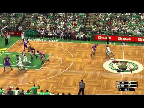 NBA 2K13 Stadium Feel Mod HD BOS vs LAL