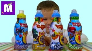 Самолеты Дисней сок с сюрпризом игрушкой распаковка Disney Planes juice with surprise toy unboxing
