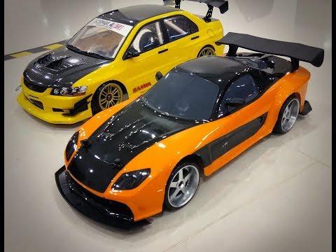 Battle test!!! Jada Toys RC Mazda RX7 Han's Vs Yokomo Drift Lancer Evo IX