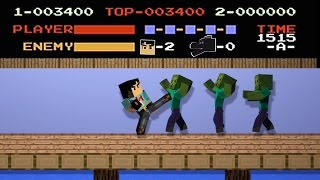 NES Kung FU 8-bit Minecraft Animation Remake (No Damage) NikNikamTV