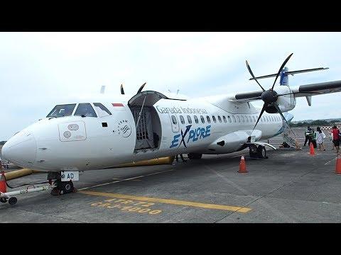 Garuda Indonesia Bali to Labuan Bajo Komodo Airport ATR72-600