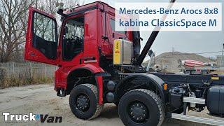 W kabinie ClassicSpace - Mercedes Benz Arocs Grounder 4148 8×8. Test, Mirrorcam, Hyva Smart