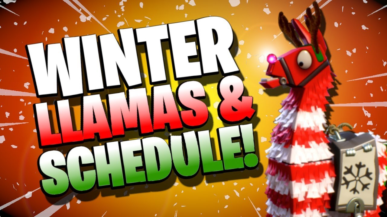 LLAMA ROTATION SCHEDULE! | Winter Llama Opening Fortnite Save the World |  Winter Event