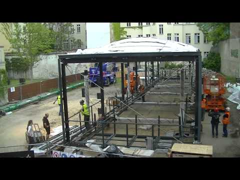 Construction Time-lapse: BMW Guggenheim Lab Berlin