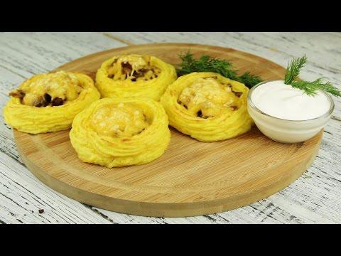 Картофельные гнезда с грибами - Рецепты от Со Вкусом