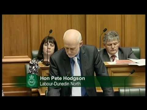 Question 7: Hon Pete Hodgson to the Prime Minister