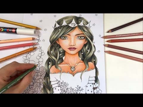 How I Color Brown Skin & Hair | Astro-INKLINGS - Zodiac Coloring Book by Tanya Bond
