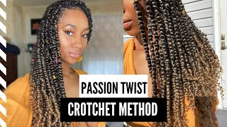 How To: Easy Passion Twist Tutorial| Crotchet Method- NO RUBBER BANDS| Step by Step| Rae Jaziel