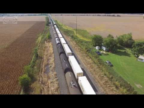 Thumbnail: Two Trains Race! (Drone Video)