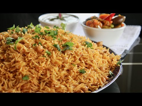 Chana Pulao Recipe - Nakhud Palaw - Channa Pulao - Easy Chana Pulao