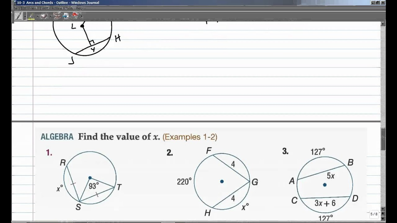 Unit 10 Circles Homework 2 Central Angles Arc Measures And ...