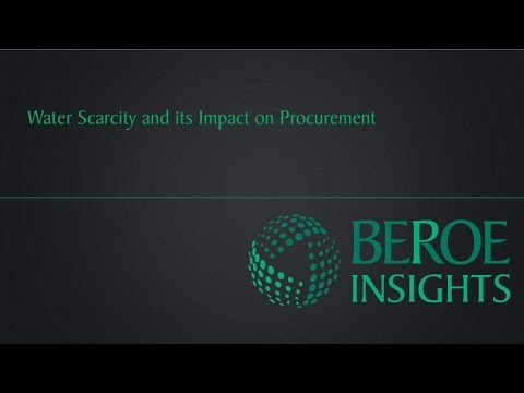 Water Scarcity and its impact on Procurement