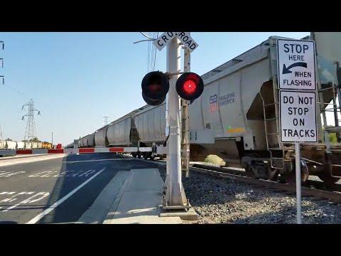 Union Pacific 5834 Grain Train Northbound, Power Inn Road, Sacramento CA