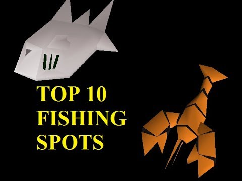 Aimless Top 10 - Fishing Spots In Oldschool Runescape