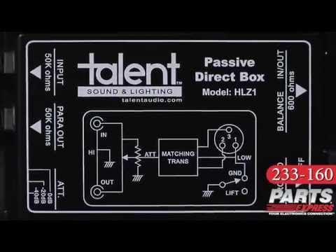 Talent HLZ1 Passive Direct Box
