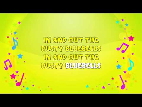 In and Out the Dusty Bluebells | Karaoke | Action Song | Nursery Rhyme | KiddieOK