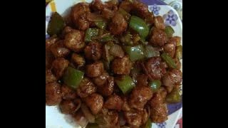 Tasty soyabean chilli Recipe... easy and quick... सोयाबीन चिल्ली रेसिपी..
