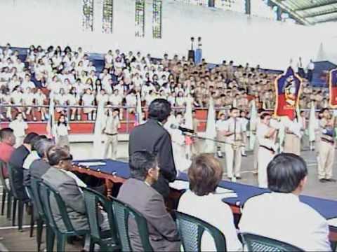 Jipijapa Manabi Ecuador Entrega de Bandera En el Glorioso Colegio Nacional  Dr  Alejo Lascano Bahamonde