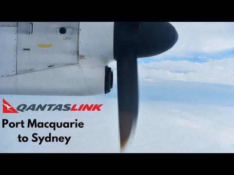 FULL FLIGHT: QantasLink Dash 8 Q400 | Port Macquarie To Sydney