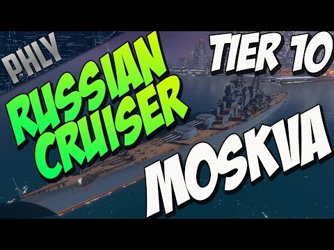 NEW RUSSIAN CRUISER TIER 10 MOSKVA (World Of Warships Gameplay)