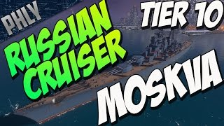 Video NEW RUSSIAN CRUISER TIER 10 MOSKVA (World Of Warships Gameplay) download MP3, 3GP, MP4, WEBM, AVI, FLV Juni 2018