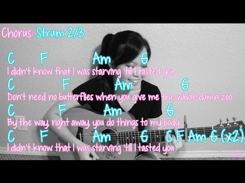 """Starving"" - Hailee Steinfeld EASY Guitar Tutorial [Chords/Strumming/Picking/Cover]"