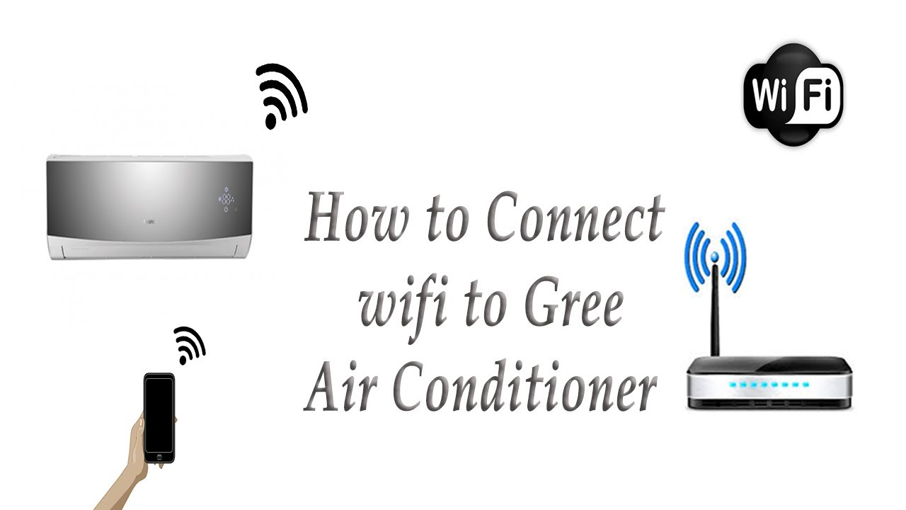how to connect wifi to gree ac youtube rh youtube com Split Clip Art GE Window Air Conditioners