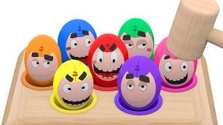Oddbods Whac A Mole Game Surprise Eggs Learn Colors For Kids Children Cookie Monster