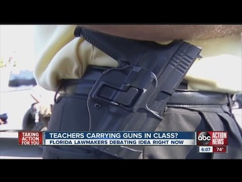 Bill to legalize guns at schools clears hurdles