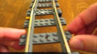 How to make long curves from straight pieces of LEGO 9V train track
