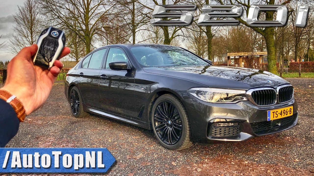 2019 BMW 5 Series G30 520i M SPORT Plus REVIEW POV Test Drive on AUTOBAHN & ROAD by AutoTopNL