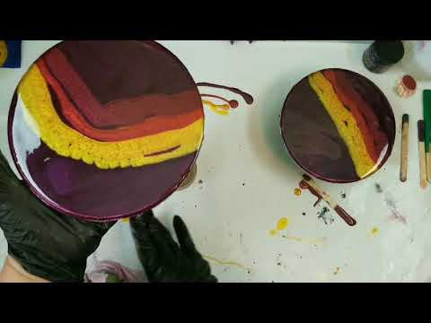 A Pair Of Resin Paintings With Torch N Tilt | Resin Pouring | Resin Cells | Beginners Resin