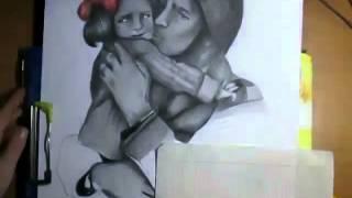 """Посвящается Великой Отечественной Войне. """"Солдат с ребёнком"""". 9 Мая 2014 год."""
