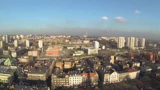 Katowice - panorama miasta z powietrza - ul. Mariacka [HD]
