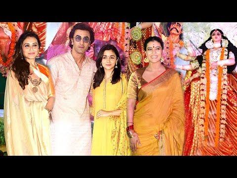 All Bollywood Celebs Durga Puja 2017 Full Video HD - Kajol,Rani Mukherjee,Ranbir Kapoor,Alia Bhatt