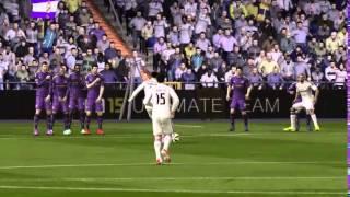 Amazing Free Kick CR7 VS MESSI FIFA 15 FOOTBALL
