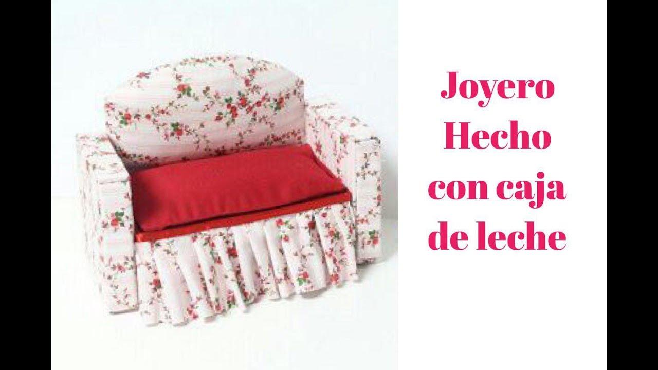 Joyero Hecho Con Caja De Leche