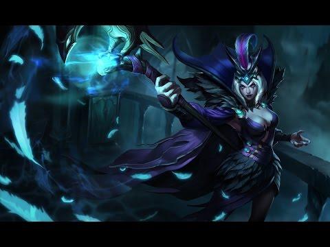 Ravenborn LeBlanc Skin Spotlight Gameplay - League of Legends