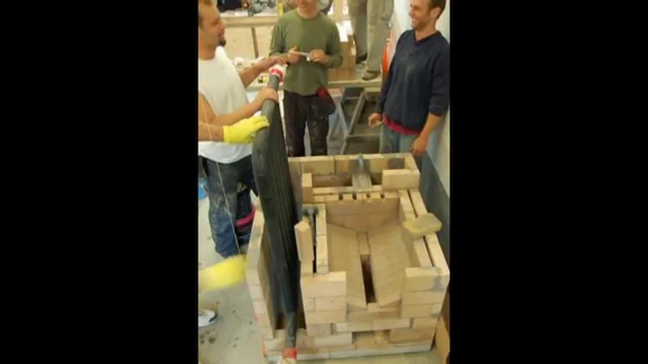 Печь камин с водяным отоплением - YouTube