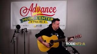 Kevin Boyea playing a Martin OM, captured with a Rode NT1-A
