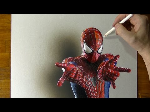 amazing-spider-man-drawing---how-to-draw-3d-art