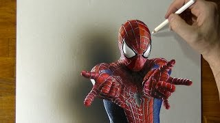 Amazing Spider-Man Drawing - How to draw 3D Art